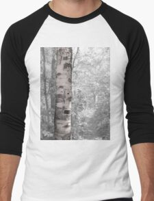 Birch Tree In Forest Men's Baseball ¾ T-Shirt