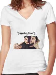 Suicide Boys Scrim and Ruby Women's Fitted V-Neck T-Shirt