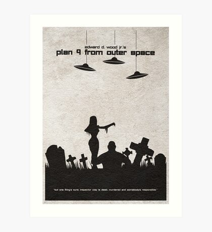 Plan 9 from Outer Space Art Print