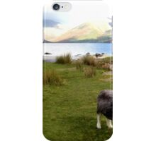 Wast Water with a Herdwick Sheep iPhone Case/Skin