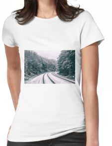 Snowy Travel Womens Fitted T-Shirt