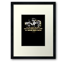 Back to the future ...with quote in italian Framed Print