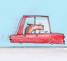 Happy dog is on a drive, which makes him even happier by 15mindrawings