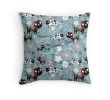 Funny cats in love  Throw Pillow