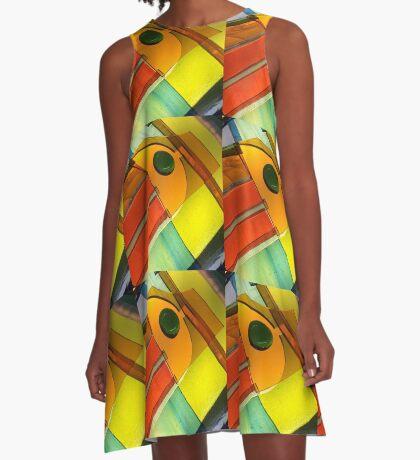 Citrus Sun A-Line Dress
