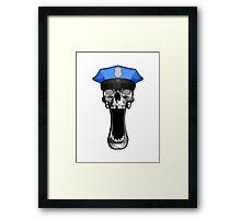 Police Skull Framed Print