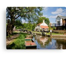 Thames Lock Canvas Print