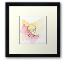Geometric Skull Framed Print