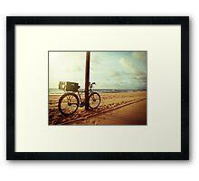 Sunrise in Recife beach Framed Print