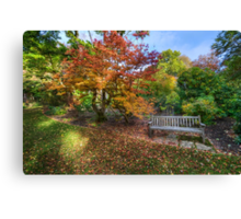Autumn Bench Canvas Print