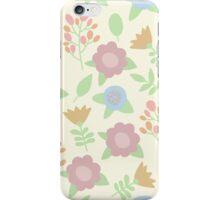 Elegant seamless pattern with pastel flowers hand drawn iPhone Case/Skin