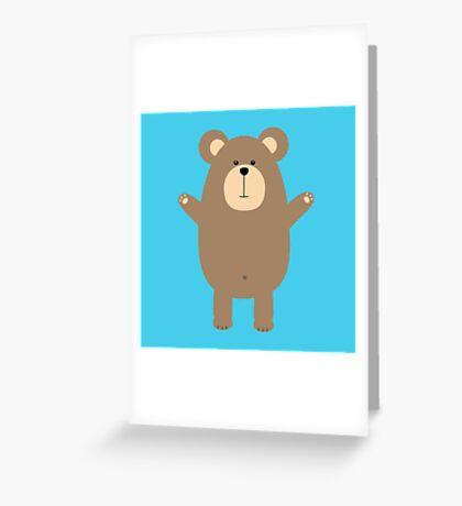 Happy Brown Bear  Greeting Card