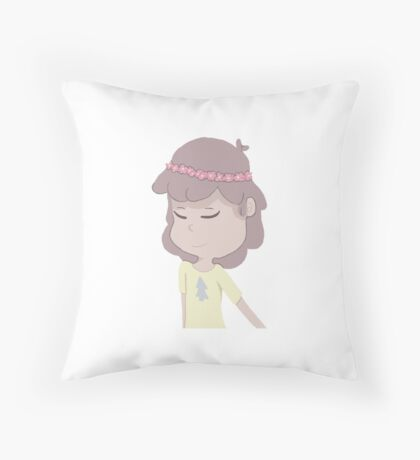 Dipper Pines with a Flower Crown Throw Pillow