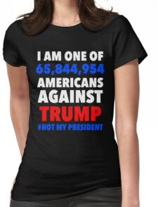 AMERICANS AGAINST TRUMP Womens Fitted T-Shirt