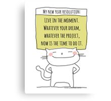 My new year resolution / Cat Doodle Canvas Print