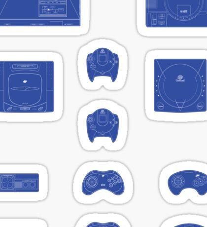 Sega outlines (blue) Sticker