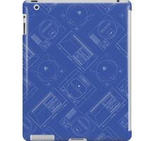 Sega outlines (blue) iPad Case/Skin