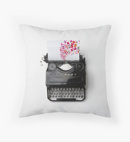 Typing Joy Throw Pillow