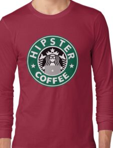 Hipster Coffee Long Sleeve T-Shirt