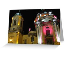 Dominican church at night Greeting Card