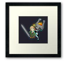 Legend of Zelda - Twilight Princess - Link & Midna Framed Print