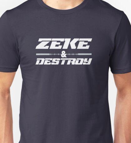 Ezekiel Elliott Cowboys Zeke And Destroy Football T Shirt & More Unisex T-Shirt