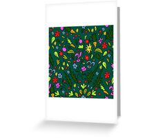 seamless pattern colorful garden with rabbits and carrots, illustration, cute background, color doodle background. Hand draw. Greeting Card