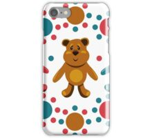 seamless pattern with children's teddy bears, illustration for children iPhone Case/Skin