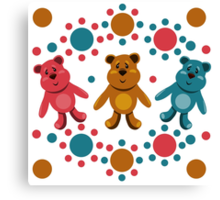 seamless pattern with children's teddy bears, illustration for children Canvas Print