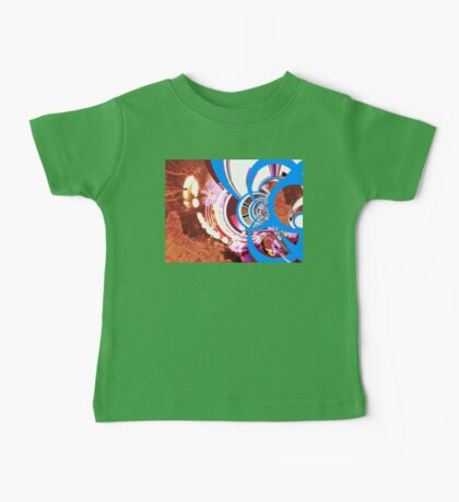 Augmented Urban Contemporary Modern Abstract Brown Blue Art Baby Tee