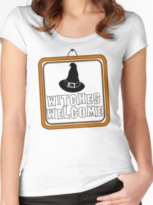 Witches are Welcome Women's Fitted Scoop T-Shirt
