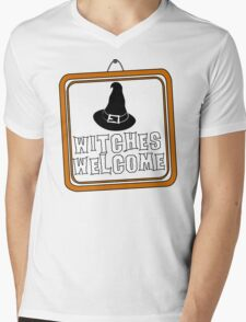 Witches are Welcome Mens V-Neck T-Shirt