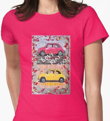 LOVE FIAT 500 Womens Fitted T-Shirt