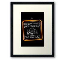 Deads only Framed Print