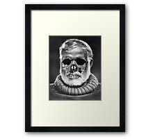 """Ernest """"Skull"""" Hemingway Framed Print"""