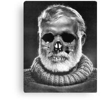 "Ernest ""Skull"" Hemingway Canvas Print"