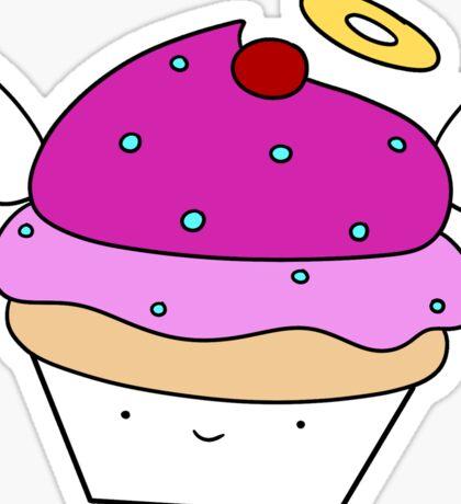 Pink Angel Cupcake Sticker