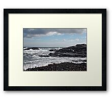 Coast Line Of Maine Framed Print