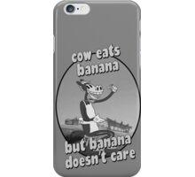 Cow Eats Banana iPhone Case/Skin