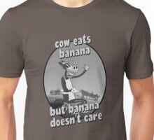 Cow Eats Banana Unisex T-Shirt