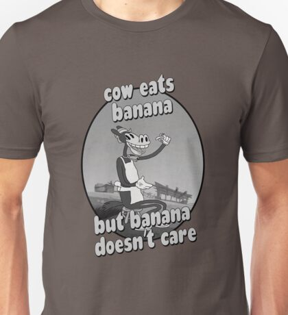 Cow Eats Banana Unisex T-Shirt