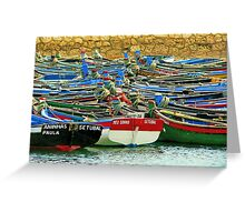 boat puzzle Greeting Card