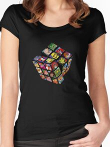 80s Cartoons Women's Fitted Scoop T-Shirt