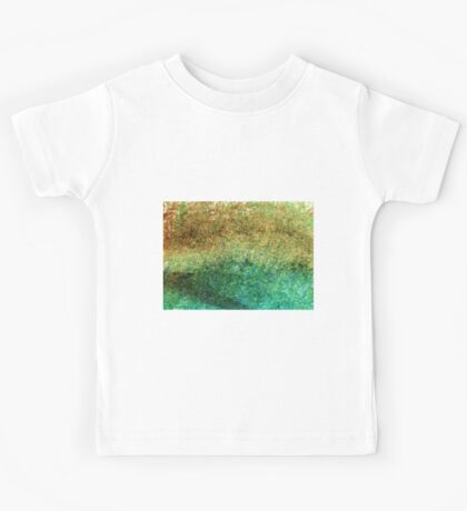 Forest At The Edge Of The Pond in Oil Pastel Kids Tee