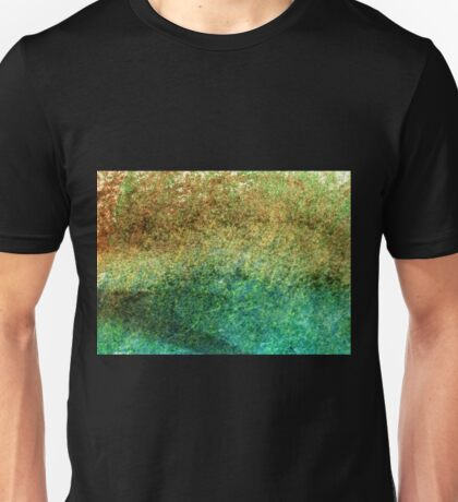 Forest At The Edge Of The Pond in Oil Pastel Unisex T-Shirt