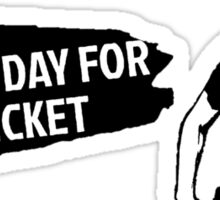 Lovely Black-And-White Day For Cricket Sticker