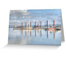 Sitting on the dock Greeting Card