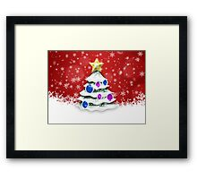 Christmas and New Year red background Framed Print