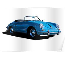 1960 Porsche 356 Cabriolet Poster