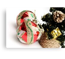 Christmas balls Canvas Print
